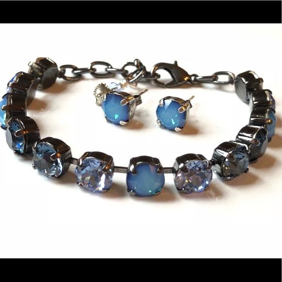 Swarovski Crystal Elements Bracelet and Earrings eb0bb7f47